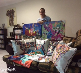 Jess and her Tracey Keller art collection