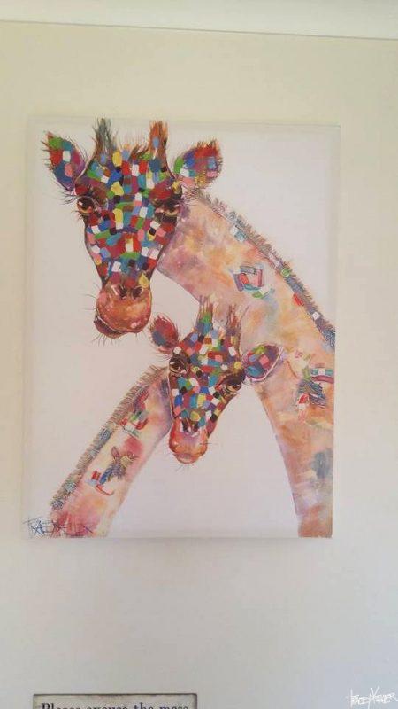 Tracey Keller Painting Giraffe