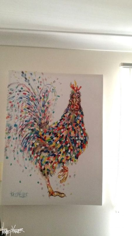 Tracey Keller Painting of Rooster